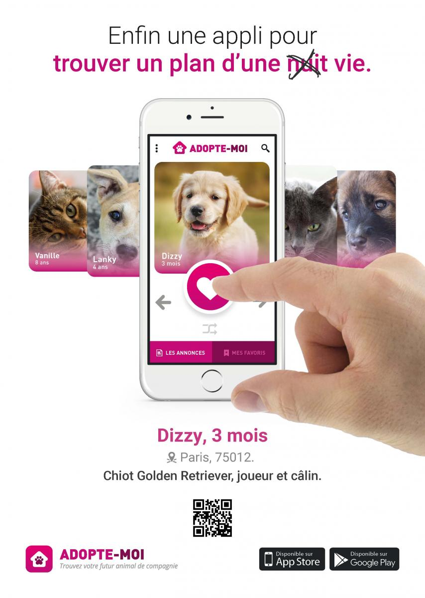 campagne publicitaire adopte-moi