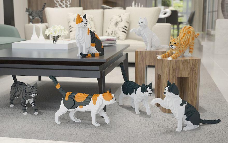 Canon ! Ces chats en LEGO vont vous en mettre plein les yeux
