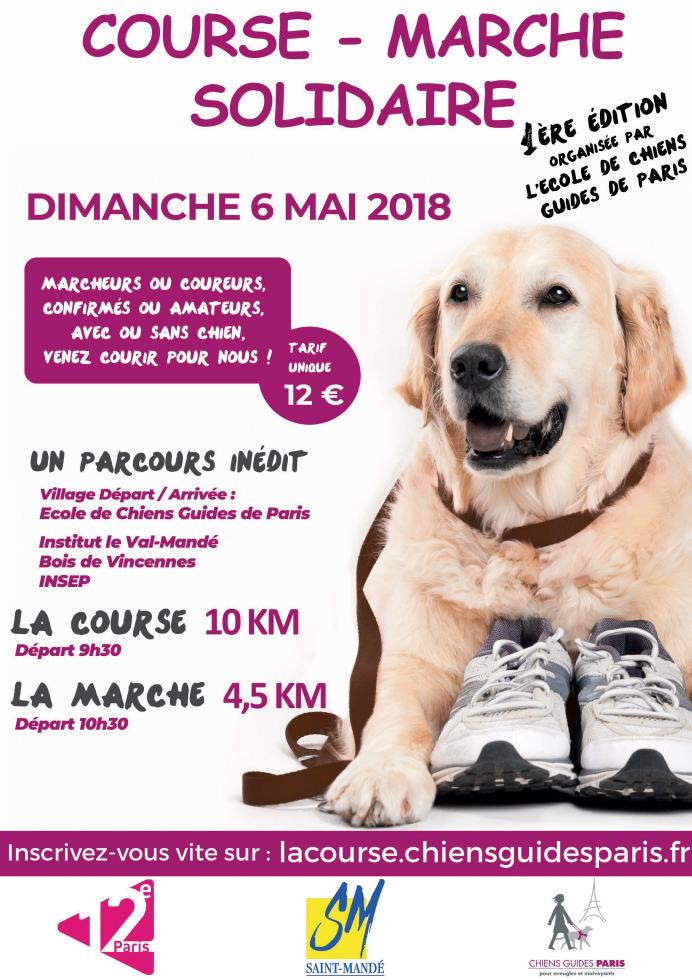 course marche chiens guides