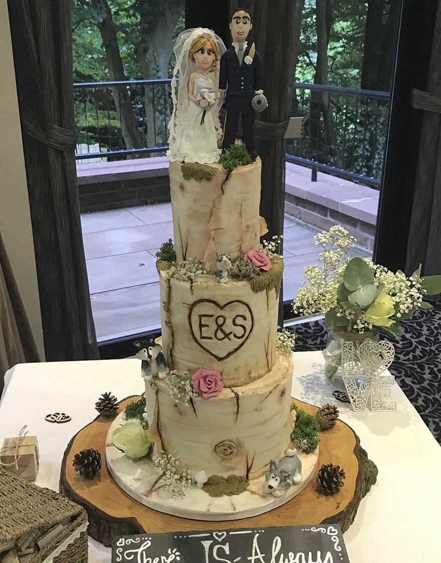 gâteau de mariage animaux