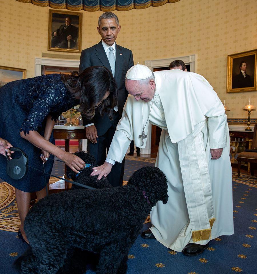 pape françois bo sunny obama