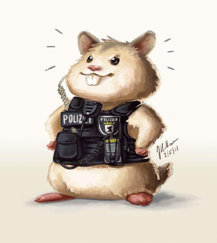 hamster police berlin